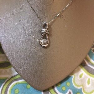Jewelry - Sterling Silver & diamond Ring & Necklace